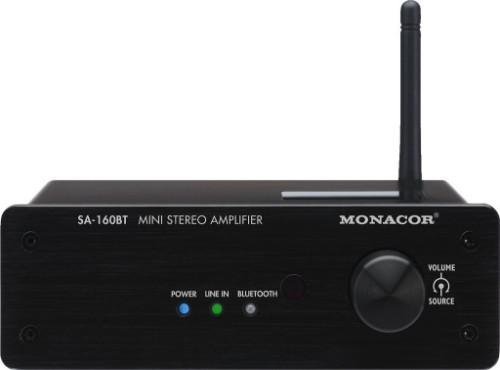 Monacor SA-160BT audio amplifier 2.0 channels Performance/stage Black