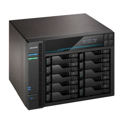 ASUSTOR AS6510T Lockerstor 10-Bay NAS Enclosure (No Drives), Quad Core CPU, 8GB DDR4, USB 3.2, 2 x 1