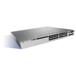 Cisco Catalyst WS-C3850-24T-S netwerk-switch Managed Zwart, Grijs