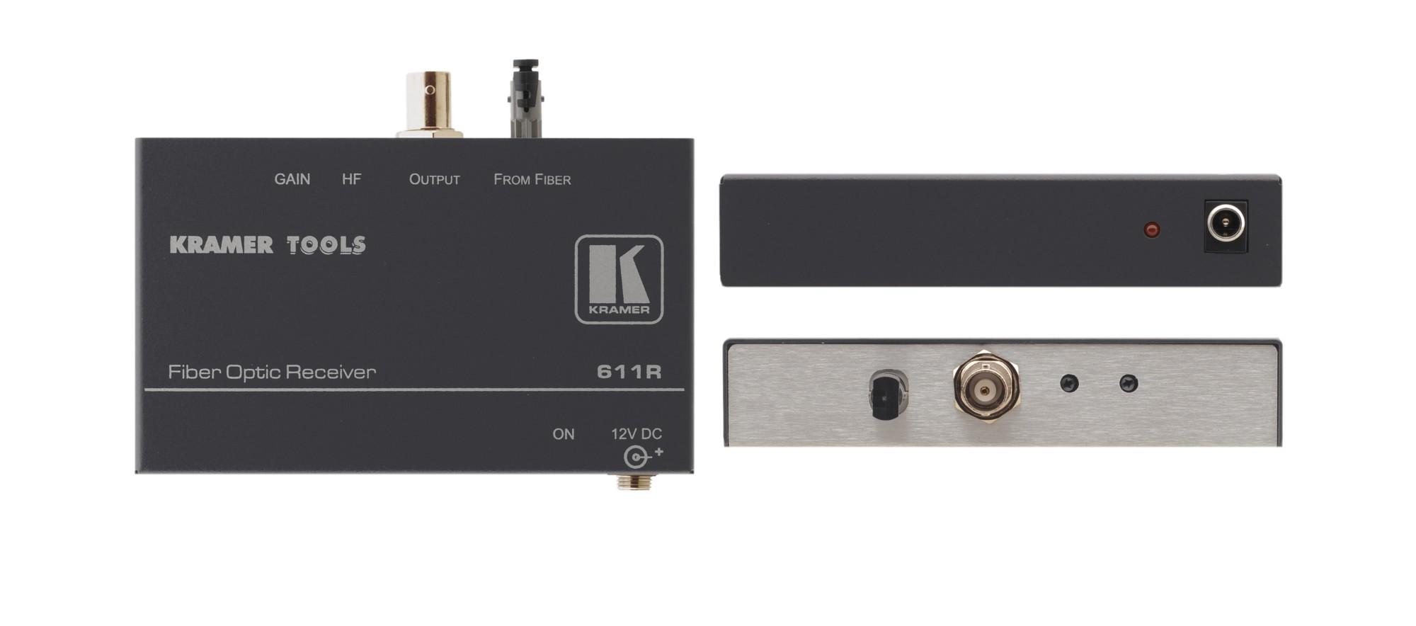 Kramer Electronics 611R AV receiver Black AV extender