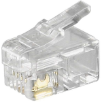Microconnect KON500-10 wire connector RJ10 Transparent