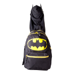 DC COMICS Batman Big Logo with Integrated Hood Backpack, Black (BP046SBTM)