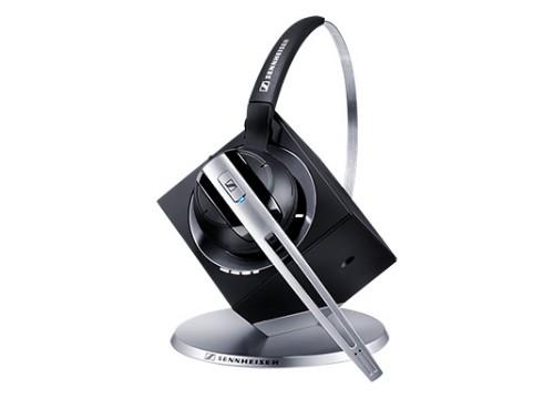 Sennheiser DW Office mobile headset Monaural Black, Silver Wireless