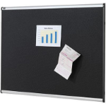 QUARTET PRESTIGE FABRIC BOARD FOAM 1800 X 1200MM BLACK