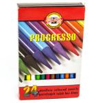 KOH-I-NOOR PROGRESSO WOODLESS COLOURED PENCILS 8MM PACK 24