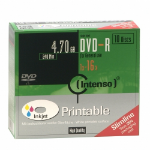Intenso DVD-R 4.7GB, Printable, 16x 10 pc(s)