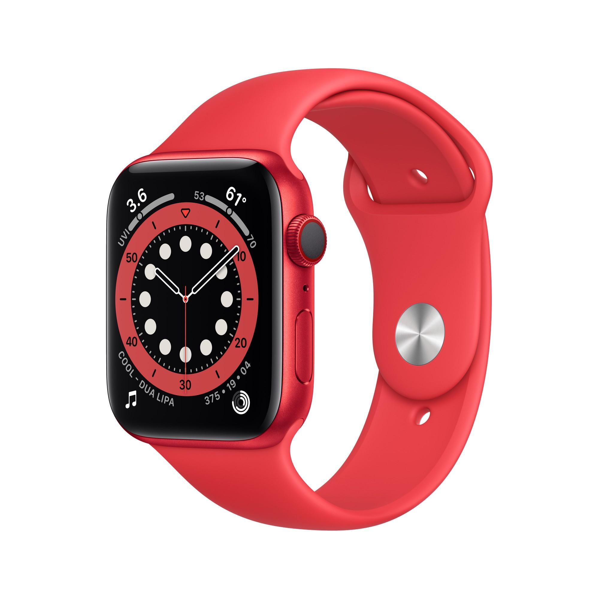 Apple Watch Series 6 OLED 44 mm Rojo 4G GPS (satélite)