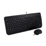 V7 Full Size USB Keyboard with Palm Rest and Ambidextrous Mouse Combo - FR CKU300FR