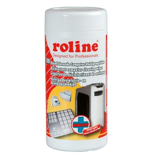ROLINE Disinfectant Computer Cleaning Wipes (100 pcs.)
