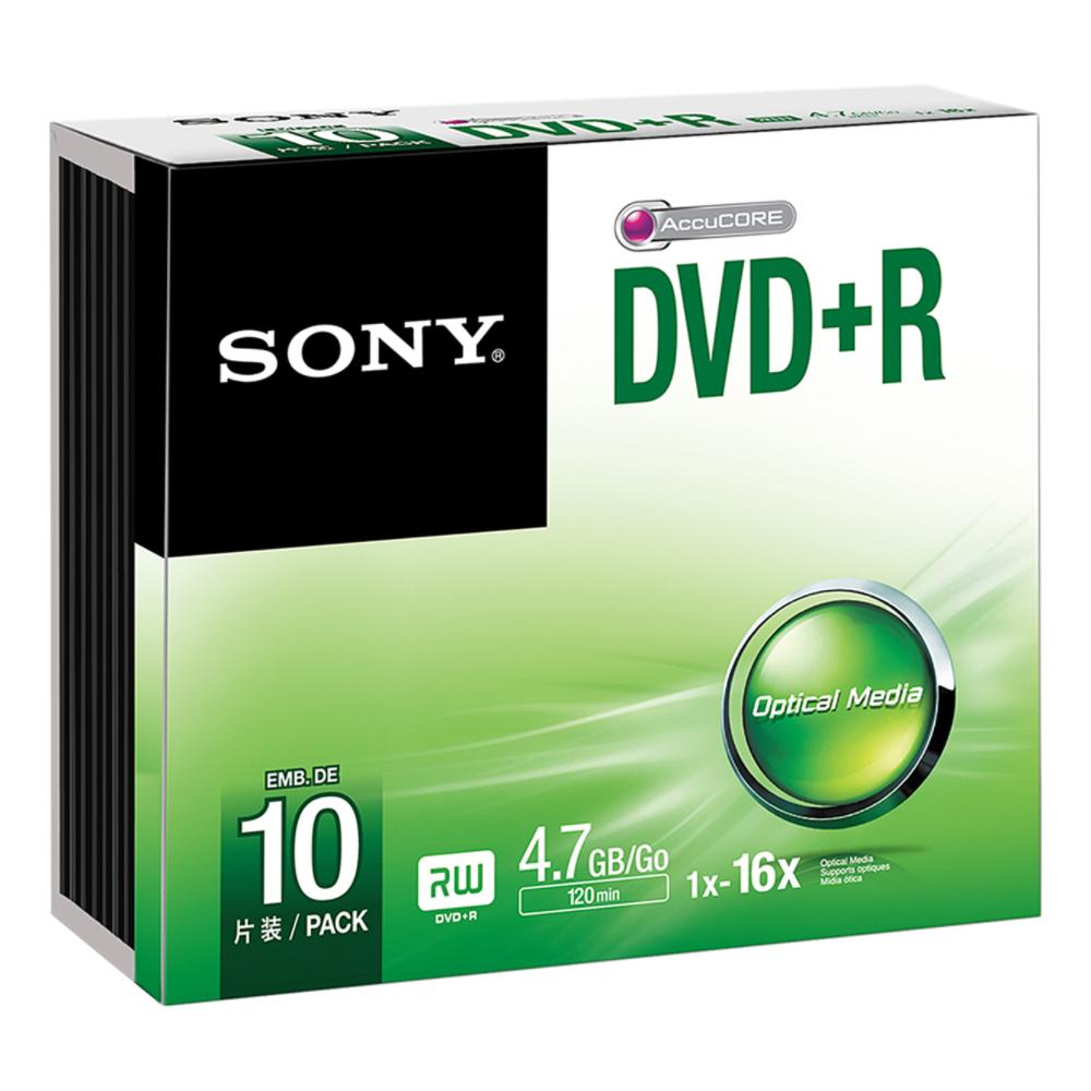 SONY DVD+R 16X SLIM CASE