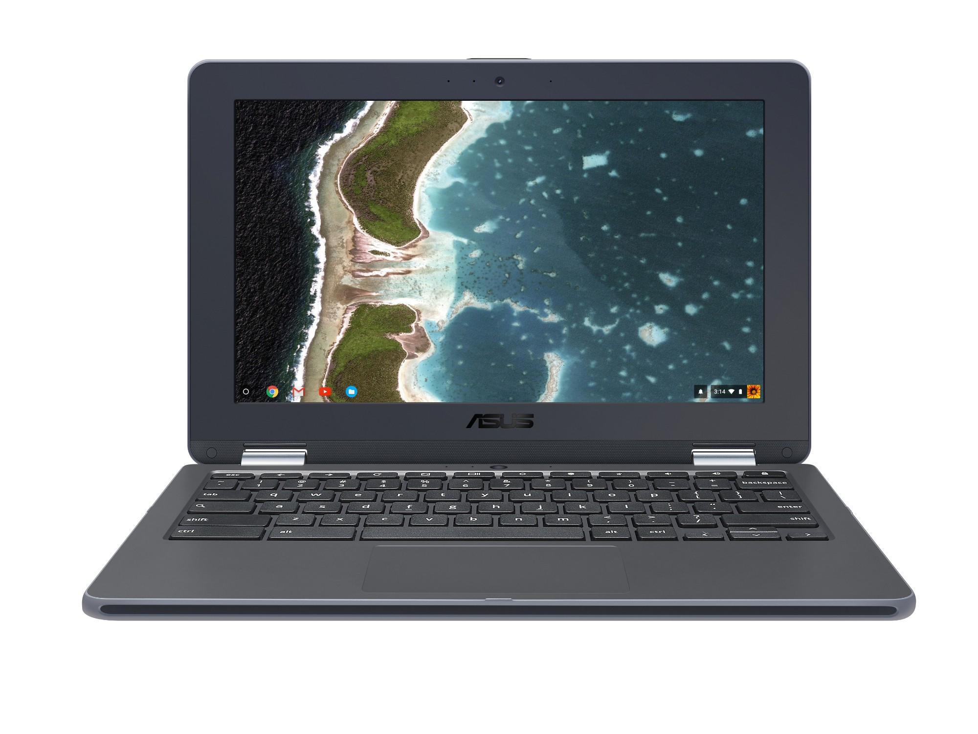 "ASUS Chromebook Flip C213NA-BU0033-OSS 1.1GHz N3350 11.6"" 1600 x 900pixels Touchscreen Grey Chromebook"