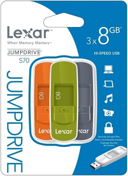 Lexar JumpDrive S70 8GB USB 2.0 Multi USB flash drive