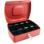 Q-CONNECT Q CONNECT CASH BOX 10INCH RED