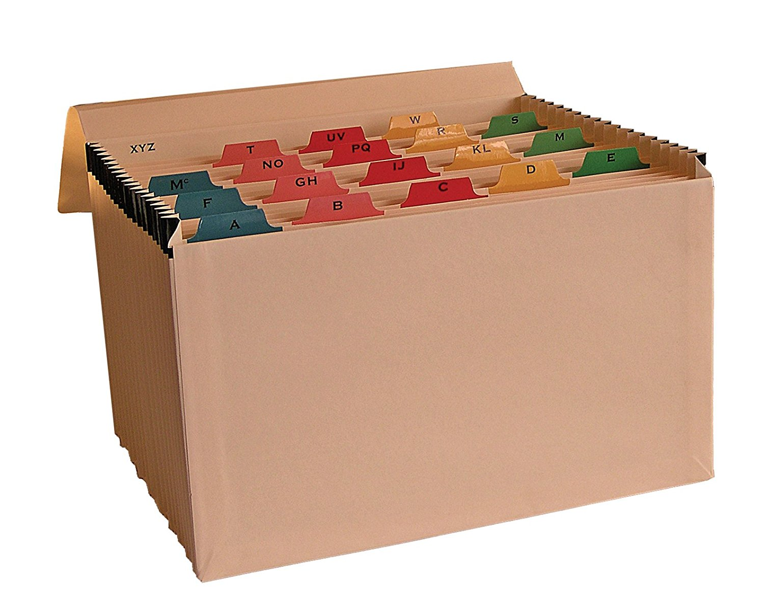 Cathedral Products Manila Mylar Reinforced 19 Pockets Expanding File (A-Z)