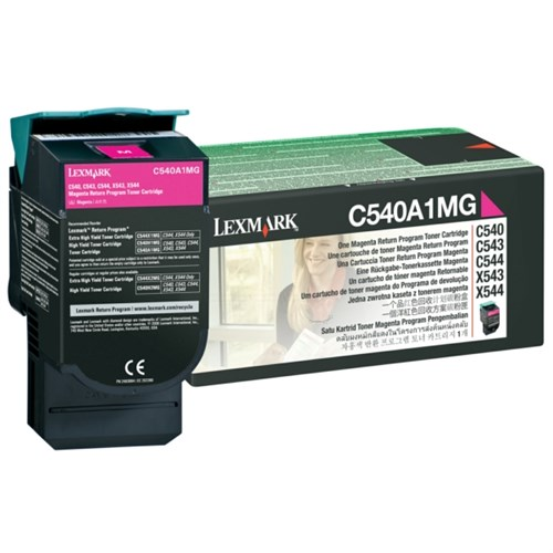 Lexmark C540A1MG Toner magenta, 1000 pages