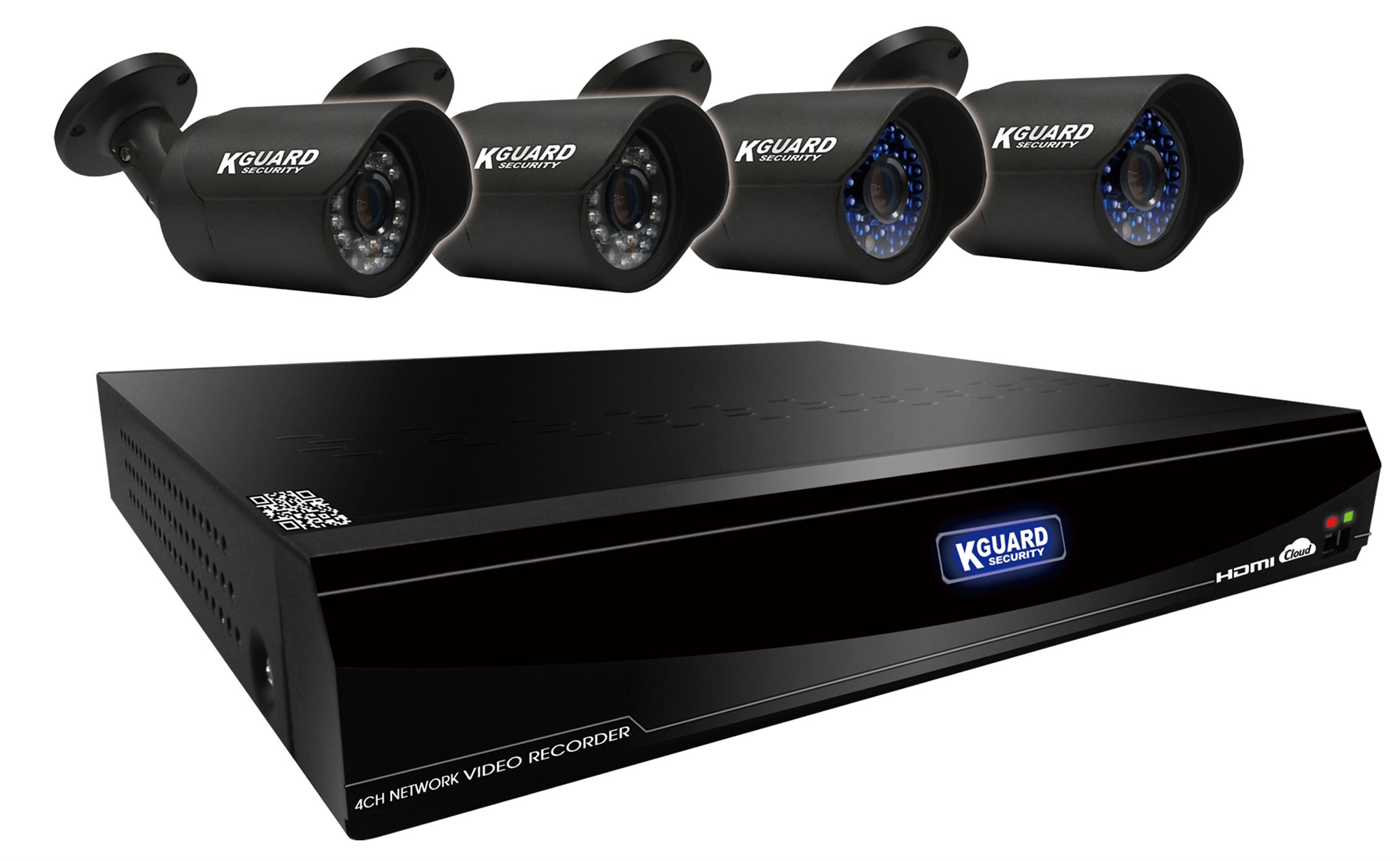 Kguard MR-4040 NVR Combo Kit Black digital video recorder