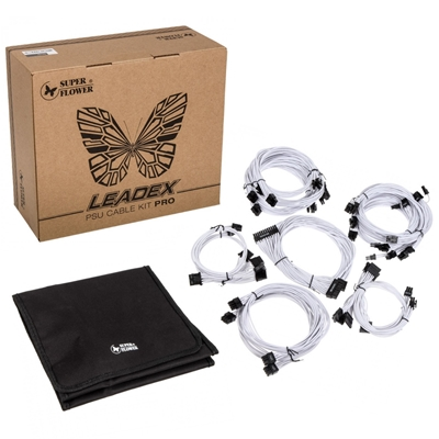 Super Flower White Sleeve Cable Kit Pro