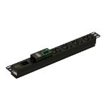 APC EPDU1016M unidad de distribución de energía (PDU) 1U Negro 8 salidas AC