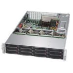 Supermicro 6028R-E1CR12L Intel C612 LGA 2011 (Socket R) 2U Black,Silver