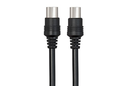 Techlink 103120 coaxial cable 1.5 m Black