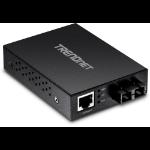 Trendnet TFC-GMSC convertidor de medio 2000 Mbit/s 850 nm Negro