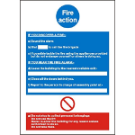 Stewart Superior Fire Action Sign