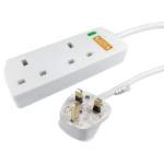 Cables Direct RB-02M02SPD power extension 2 m 2 AC outlet(s) Indoor White
