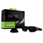 Nvidia GeForce 3D Vision 2 Black stereoscopic 3D glasses