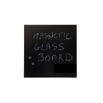 Bi-Office GL150201 Glass Black magnetic board