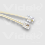 Videk 4 Pole RJ11 Male - Male Modular Cable 5Mtr 5m telephony cable