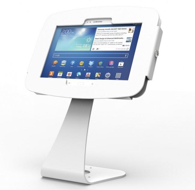 Maclocks Samsung Galaxy Tab Space Enclosure Swing Arm Mounting Kit ( Wall Mount ) - White - (827W400GEW)
