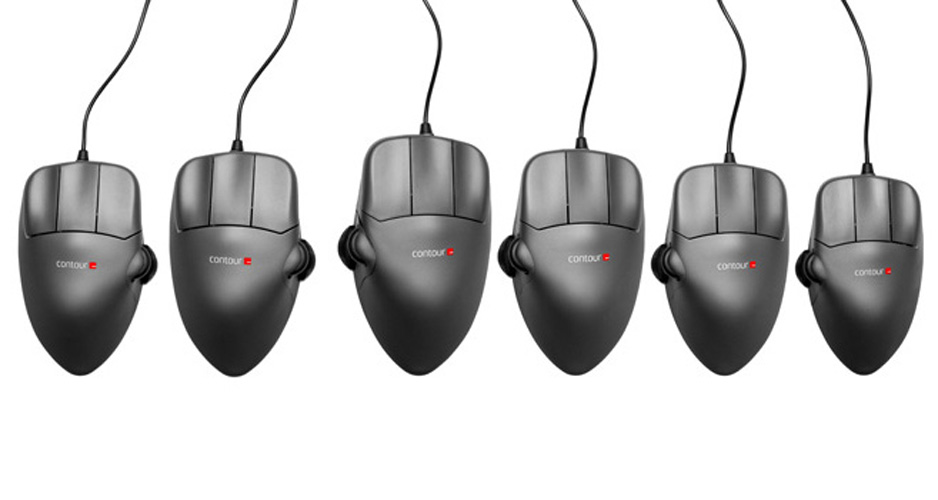 Contour Design In constraint; available whilst stocks last. Contour Mouse Large Right Handed. Gunmetal black. Four