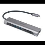 Akasa AK-CBCA14-18BK interface hub USB 3.1 (3.1 Gen 2) Type-C 5000 Mbit/s Aluminium,Black
