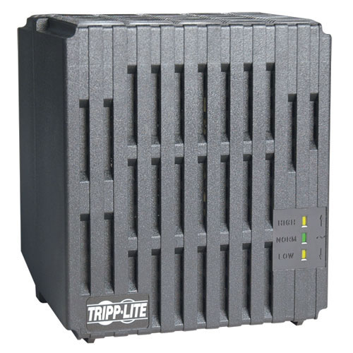 Tripp Lite 1000W 230V AVR Line Conditioner, Power Conditioner, AC Surge Protector, 4 Outlets, Uniplug Adapter