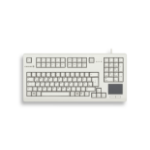 CHERRY TouchBoard G80-11900 Corded Keyboard with Touchpad, Light Grey, USB, (AZERTY - FR) G80-11900LUMGB0