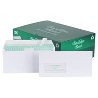 Basildon Envelopes Wallet Peel and Seal Window 120gsm White DL [Pack 500]