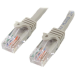 StarTech.com Cable de Red de 0,5m Gris Cat5e Ethernet RJ45 sin Enganches