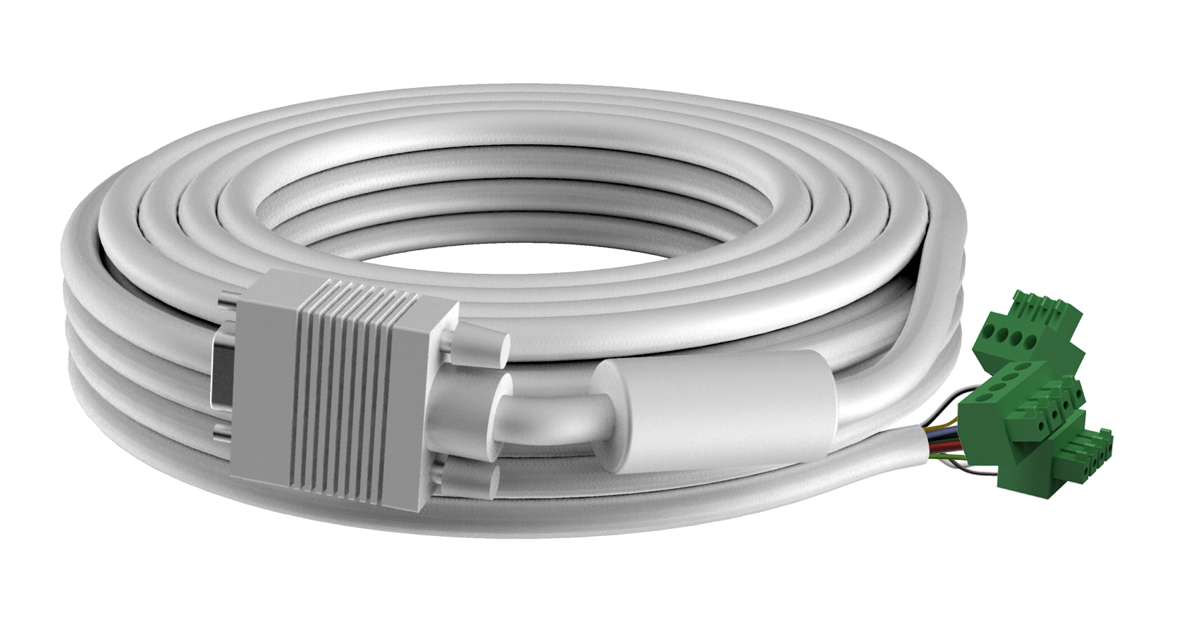 Vision TECHCONNECT SPARE 3M VGA CABLE High-Grade White Installation Cable. A moulded connector on on