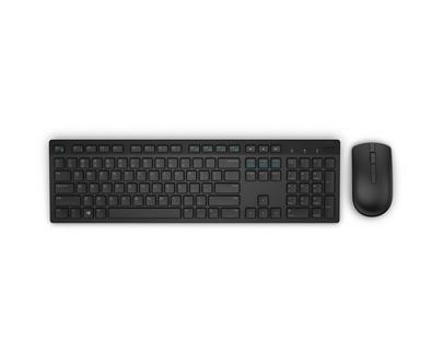DELL KM636 keyboard RF Wireless QWERTY Pan Nordic Black