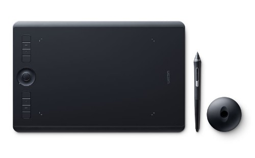 Wacom Intuos Pro graphic tablet 5080 lpi 224 x 148 mm USB/Bluetooth Black