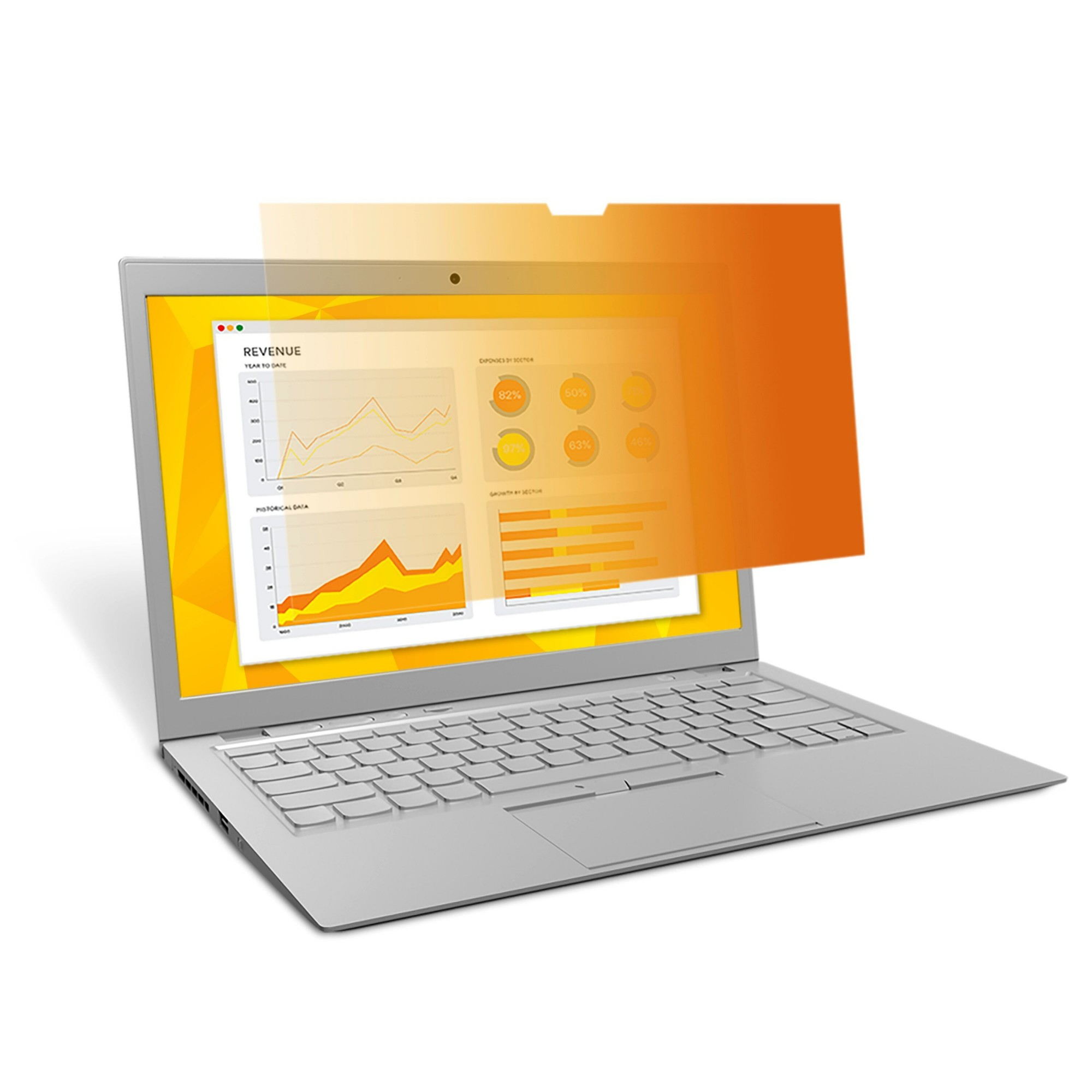 High Security Privacy Filter 14.1in Wide Gold