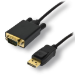MCL MC294-1.5M adaptador de cable de vídeo 1,5 m Mini DisplayPort VGA (D-Sub) Negro