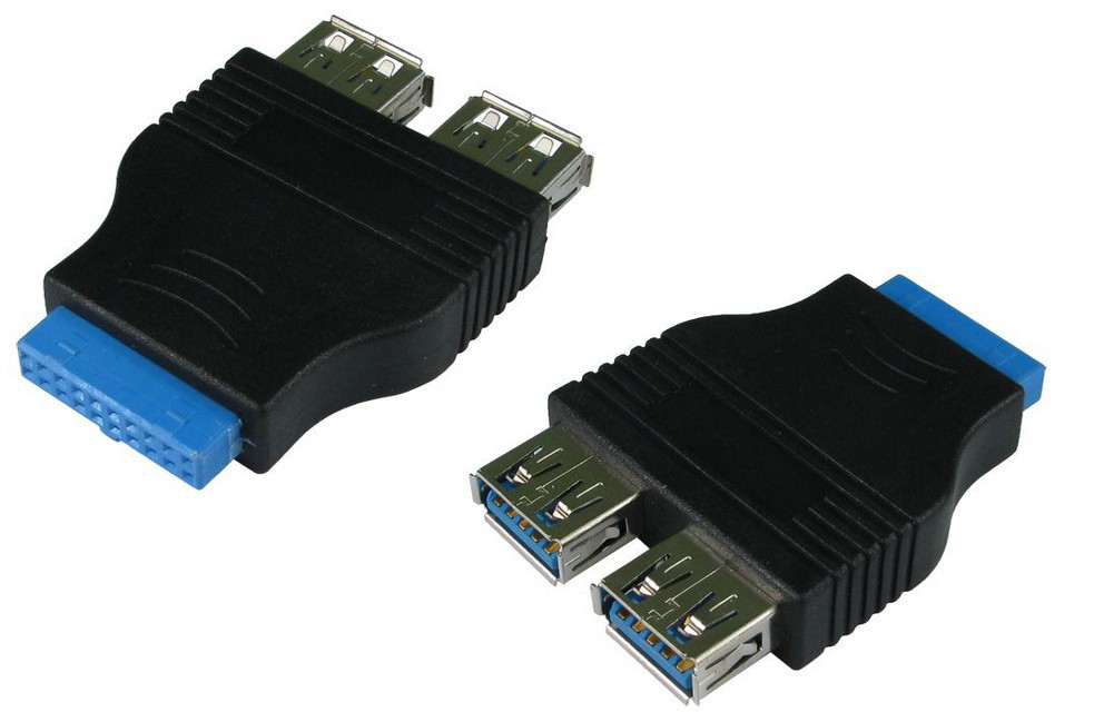 Cables Direct 20-pin - 2x USB 3.0 A Internal USB 3.0 interface cards/adapter