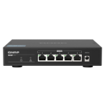QNAP QSW-1105-5T network switch Unmanaged Gigabit Ethernet (10/100/1000) Black