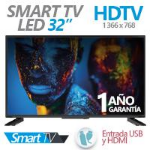 GHIA TELEVISION LED GHIA 32 PULG SMART TV HD 720P 3 HDMI / USB / VGA/PC 60HZ dir