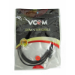 VCOM 3.5mm (M) Stereo Jack to 3.5mm (F) Stereo Jack 3m Black Retail Packaged Cable
