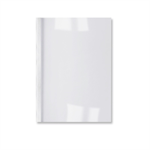 GBC LeatherGrain Thermal Binding Covers 3mm White (100)