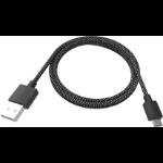 Vision TC-2MUSBM-HQ USB Kabel 2 m 2.0 USB A Micro-USB B Schwarz, Weiß
