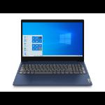 """Lenovo IdeaPad 3 Notebook Blue 39.6 cm (15.6"""") 1366 x 768 pixels 10th gen Intel® Core™ i3 8 GB DDR4-SDRAM 256 GB SSD Wi-Fi 5 (802.11ac) Windows 10 Home S"""