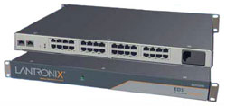 Lantronix EDS00812N-01 8-Port Device Server - 8 x RJ-45 10Mbit/s Grey interface hub